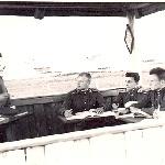 Предполетная подготовка. Курсанты: А. Рыбаков, Н. Сахненко, В. Бадьёв, Э. Ашмарин.