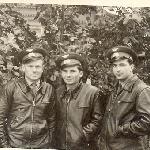 Лейтенанты В. Бадьёв, Н. Сахненко, И. Дьячков. Иваново. 7 октября 1960 г.