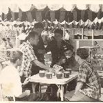 Иваново. Парк 1905 года. Ф. Шуть (БВВАУЛ - 59), А. Царьков, …?, Ф. Загитов, …?, В. Бадьёв (БВВАУЛ - 59)