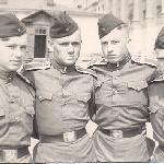 На территории училища. Второй слева - курсант Бадьёв