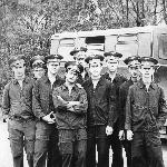 Год назад были курсантами. Сегодня - лейтенанты-лётчики. Поставы - 1977 год.