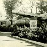МиГ-21 между УЛО и штабом училища в 1975 г.