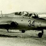 Л-29 на рулении. Середина 70-х, зима.