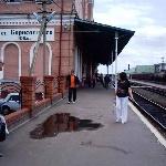 Здание ж/д вокзала, 1-я и 2-я платформы. Лето 2006 г.