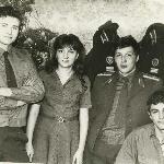 Борисоглебск, зима 1985 г., в увольнении. Шарапов, Артемова, Селиванов, Жаров