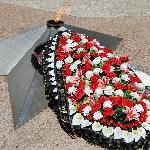 Возложен венок к монументу воинам-авиаторам, погибшим в Великую Отечественную войну