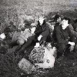 Аэродром Жердевка. Весна 1988 г. Второй слева курсант Кузнецов Э. Г.