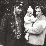 Воинов А. И. с женой и дочерью