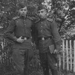 1949 год, первые дни пребывания в училище. Слева - Алексей Алексеев, справа- Фёдор Кузьмин
