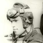 В кабине самолёта. 1975 год.