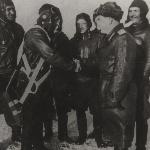 Фотография, подписанная лично И. Кожедубом незадолго до своей смерти. Крайний справа - Б. И. Корняков.