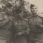 «Экипаж» Бутанов, Стриганов, Корняков. Борисоглебск, 7 мая 1945 г.