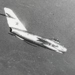 В полёте МиГ-17. Аэродром Бутурлиновка, 1975 год