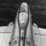 С этого ракурса «Элку» можно сразу и не узнать… Л-29, вид со стабилизатора.