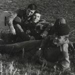 Три товарища. Аэродром Таловая, 1973 г.