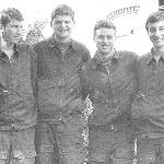 Бобков Иван, Козлов Александр, Смирнов Александр, Подлипняк Боря. Жердевка, 1984 год.