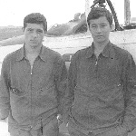 Андрей Романченко и Подлипняк Борис. Жердевка, 1984 год