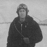 Кустанай, подполковник Новиков Е. С., подполк. Последняя фотография, связанная со службой. Надпись на обороте: 02.03.57, после полетов.