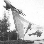 МиГ-19 на постаменте