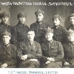 М. В. Тимофеев - первый слева во втором раяду