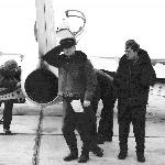 Курсант Буянов Евгений, слева - инструктор Генералов Александр Иванович. Бутурлиновка, 1974 год.