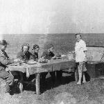 Стартовый завтрак, аэродром Танциреи 1953 г.