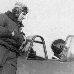 Лётчик-инструктор Геннадий Гуща, аэродром Танциреи 1953 г.