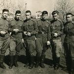 Слева направо: старшина Швец-Роговой, ? (Николаев (?), Щёголев Валентин, ? , Елькин, Макаров Михаил