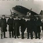 Город Клин. Мы вернулись после перегона самолетов Миг-15ф на другой аеродром. 1955 год.