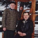 2007 год, с Грачевым А.И.  после бани на даче