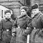1958 г., Борисоглебск.  Слева направо : Иванов-Павлов В., Заушицын В., Черкасов А., Лусников В.