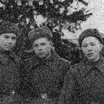 Январь 1958 г. С Тарадыменко Н. и Ивановым-Павловым в Бутурлиновке