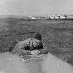 Списывание девиации радиокомпасов самолётов МиГ-15. Аэродром Родничек