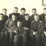 Курсанты Борисоглебского училища, 1953 год. Нога В.Е. первый во втором ряду справа