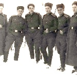 Борисоглебск, 1955 год. Баронов, Пищулин, Баринов, Андреев, Хачатрян, Казаков