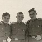 Борисоглебск, 1955 год. Филиппов, Пищулин, Андреев