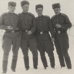 Борисоглебск, 1955 год. Бесхмельницын, Андреев, Пищулин, Филиппов
