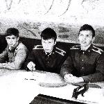 Курсанты Куницкий, Алёхин, Горбунов и Волков на занятиях. Бутурлиновка, 1987 год