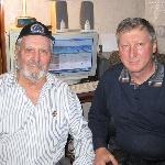 Выпускник 1960 года Провалов Г.В, и выпускник 1975 года Фаустов А.В. Январь 2013 года