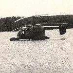 Ка-26 на баллонетах. Посадка на воду