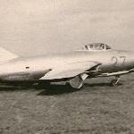 1957 год, осень, аэродром Елань-Коленовский, г. Борисоглебск. Выруливание на ВПП  для выполнения  зачётного  полёта  на самолёте Миг-15бис курсанта Гармаш