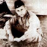 1954 г., осень. Отдых во время работы. Курсант Гармаш Ю.М.