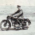 1950 год. Лагерь Танцереи. Кадацкий В. на личном транспорте