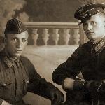 20.07.1941, г. Конотоп. Клепиков Н.Ф. с товарищем (имя неизвестно...)