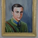 Клепиков Николай Фёдорович. Этот портрет нарисовали лётчики воинской части, в которой служил Клепиков Н.Ф. Родные Николая Фёдоровича считают, что сходство есть.