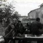 Полевой аэродром Староюрьево Б. Александров, А. Щербаков, М. Жуков.