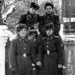 Слева направо, вверху: Александр Ефремов, Сергей Коломоец; внизу: Иван Денисов, Александр Фёдоров