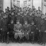 В день принятия присяги 12-го октября 1947 г.(2-ой взвод 2-ой роты 95 и 96 кл. отд. с ком. взвода к-ном Бочкарёвым и ком. роты м-ром Пыльневым)