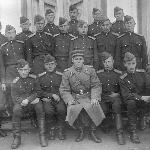 В день принятия присяги 18-го октября 1947 г. (95-е классное отделение с ком. взвода к-ном Бочкарёвым).