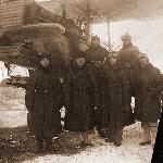 Во время службы авиатехником в 1928-29 годах во 2-й военной школе лётчиков (Петюхов В.А. вверху справа в будёновке)